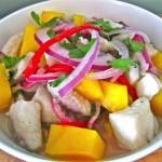 Ceviche de pescado con mango para la Cuaresma